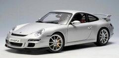 ダイキャストモデルカー 1/18 ポルシェ 911 (997) GT3 (シルバー)[オートアート]《09月予約》