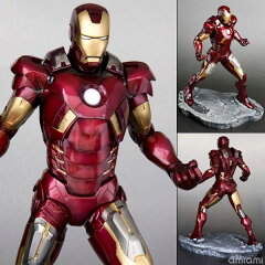 ARTFX THE AVENGERS MOVIE �A�C�A���}�� MARK VII PVC�h���ς݊ȈՑg���ăL�b�g[�R�g�u�L��]�s...