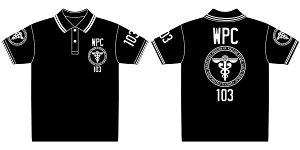 PSYCHO-PASS サイコパス 公安局ポロシャツ/ブラック×ホワイト-S[コスパ]《02月予約》