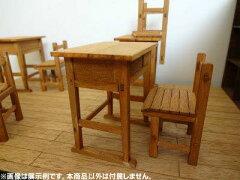 昭和の学校シリーズ 1/12 木の机と椅子 2組入り[コバアニ モケイ工房]《発売済・在庫品》