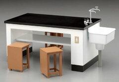フィギュアアクセサリーシリーズ 1/12 理科室の机と椅子[ハセガワ]《01月予約》