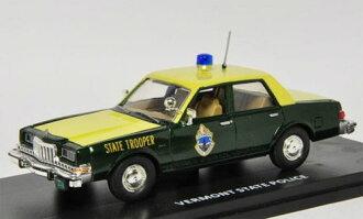"""ファーストレスポンス ダイキャスト製 1/43 1985 Dodge Diplomat Police """"Vermont State Police""""[ファーストレスポンス]《取り寄せ※暫定》(First Response Diecast Model 1/43 1985 Dodge Diplomat Police """"Vermont State Police""""(Back-order))"""
