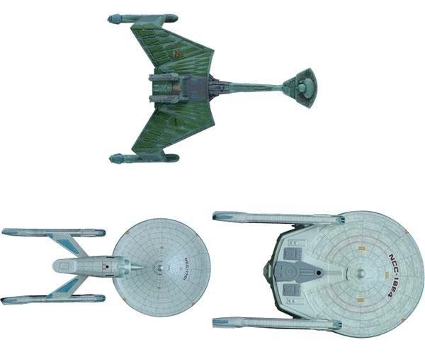 AMT Star Trek 1/2500 Movie Star Trek I & II Spaceship Set of 3 Plastic Model(Released)