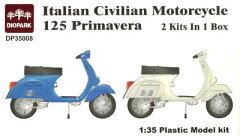 ダイオパーク プラモデル 1/35 イタリア民生バイク 125 プリマベーラ[M.Sモデルズ]《取り寄せ※...