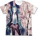 初音ミク 春ミク フルグラフィックTシャツ/ホワイト-XL(再販)[コスパ]《06月予約》