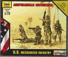 ズベズダ プラモデル 1/72 アメリカ軍現用歩兵セット[GSIクレオス]《取り寄せ※暫定》
