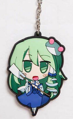 Touhou Project - Akaneya Rubber Keychain: Sanae(Released)(東方プロジェクト 茜屋ラバー・キーホルダー さなえ 単品)