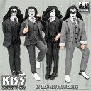 KISS レトロ 12インチフィギュア/ シリーズ5 地獄への接吻 DRESSED TO KILL: 4種セット[フィギ...