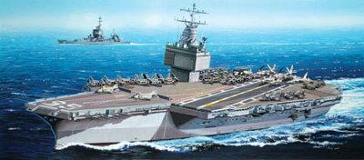 グリーンボックス 1/700 アメリカ海軍原子力空母 U.S.S.エンタープライズCVN-65(1969年) プラモ...