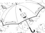 「前略、大徳さん」 オリジナルビニール傘 ブラック[伊藤商店]《取り寄せ※暫定》