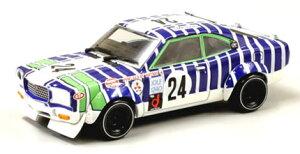 京商オリジナル 1/43 MAZDA サバンナ RX-3 No.24(ホワイト/ブルー/グリーン)[京商]《取り寄せ※...