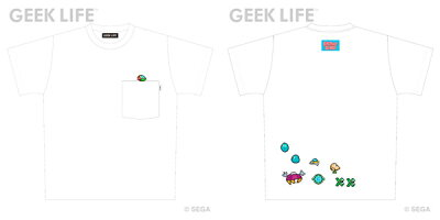 ファンタジーゾーン ワンポイントステッチ ポケット Tシャツ ホワイト M[GEEK LIFE]《08月予約》