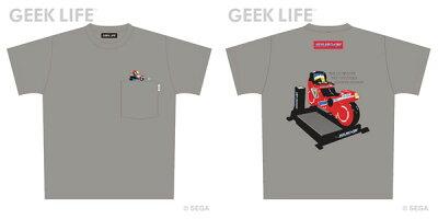 ハングオン 筐体 ワンポイントステッチ ポケット Tシャツ モクグレー M[GEEK LIFE]《08月予約》
