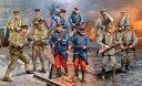 1/35 WWI ドイツ、イギリス、フランス歩兵セット プラモデル[ドイツレベル]《取り寄せ※暫定》