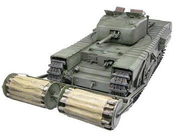 1/35 チャーチルMk.IV カーペットレイヤーB型 ツインボビン ボビン支柱(木製)・カーペット(紙製)付 プラモデル[ディン・ハオ]《取り寄せ※暫定》