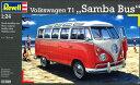 1/24 フォルクスワーゲン T1 サンバ バス プラモデル[ドイツレベル]《取り寄せ※暫定》