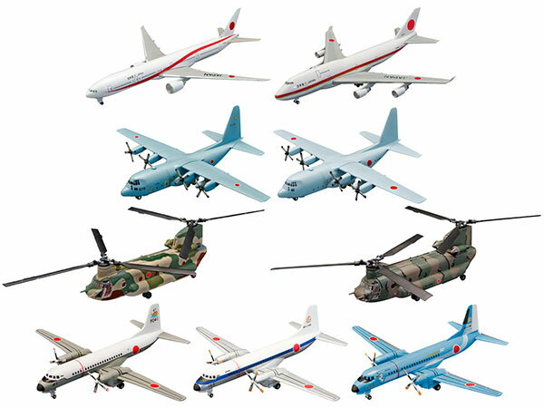 Japanese Transport Aircraft Collection 10Pack BOX (CANDY TOY)(Back-order)(日本の輸送機コレクション 10個入りBOX(食玩))