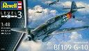 1/48 メッサーシュミット Bf109G-10 プラモデル[ドイツレベル]《取り寄せ※暫定》