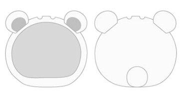 おまんじゅうにぎにぎマスコット きぐるみケース くま ホワイト(再販)[エンスカイ]《発売済・在庫品》