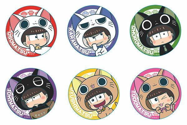 おそ松さん にゃんてぃかる トレーディング缶バッジ 6個入りBOX[PROOF]《発売済・在庫品》