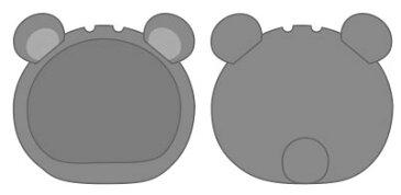 おまんじゅうにぎにぎマスコット きぐるみケース くま グレー ふつうサイズ用[エンスカイ]《発売済・在庫品》