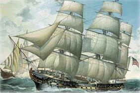 1/96 帆船 USS ユナイテッド ステーツ プラモデル[ドイツレベル]《11月予約※暫定》