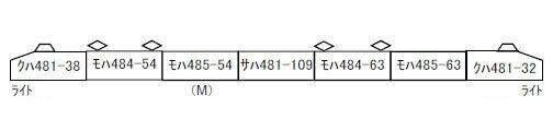 A6965 485系 勝田 復活塗装色(K7) 7両セット[マイクロエース]【送料無料】《03月予約》