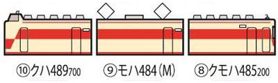 98640 JR 485系特急電車(しらさぎ)セットB (3両)[TOMIX]【送料無料】《04月予約》