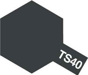 タミヤカラースプレー TS40 メタリックブラック[タミヤ]《取り寄せ※暫定》