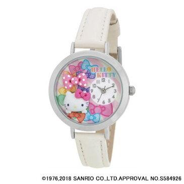 ハローキティ 日本製腕時計 ホワイト (MJSR-F03)[サン・フレイム]《取り寄せ※暫定》