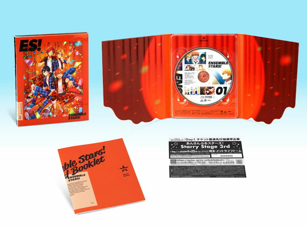 BD あんさんぶるスターズ! 01 特装限定版 (Blu-ray Disc)[バンダイナムコアーツ]《発売済・在庫品》
