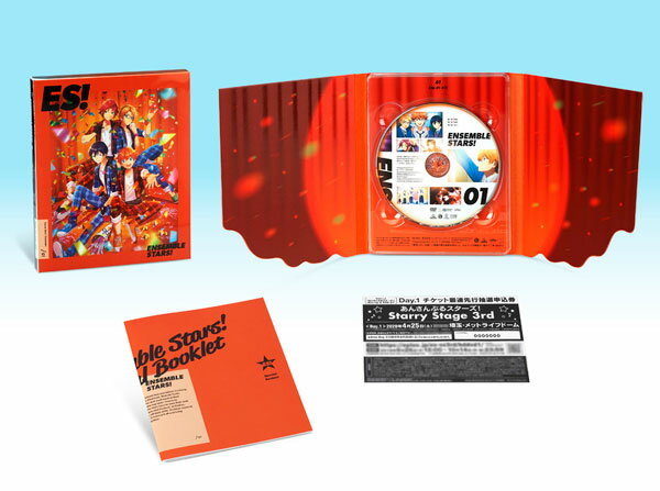DVD あんさんぶるスターズ! 01 特装限定版[バンダイナムコアーツ]《発売済・在庫品》
