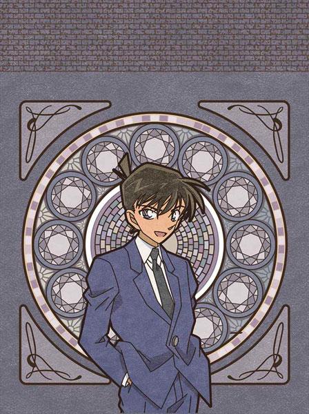 名探偵コナン 巾着(アールヌーボー/工藤新一柄)[デルフィーノ]《発売済・在庫品》