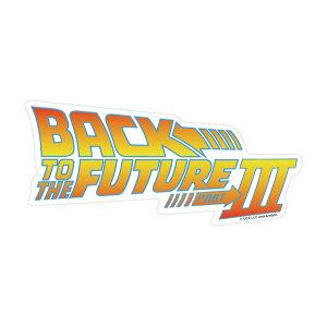 Back To The Future Part III Logo Sticker[GEEK LIFE]《発売済・在庫品》