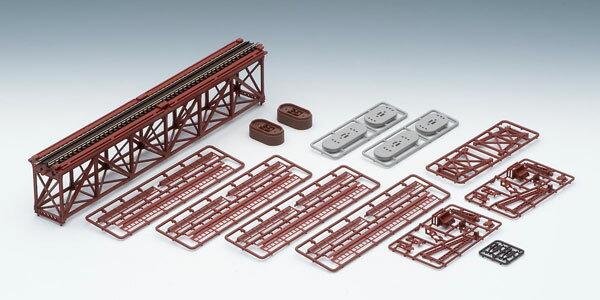 3266 上路式単線トラス鉄橋S280(F)(赤)(れんが橋脚・2本付)[TOMIX]《06月予約》