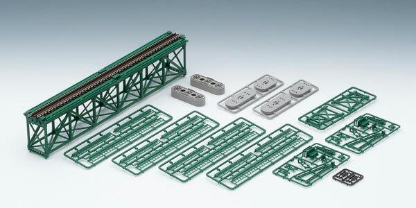 3267 上路式単線トラス鉄橋S280(F)(深緑)(PC橋脚・2本付)[TOMIX]《06月予約》