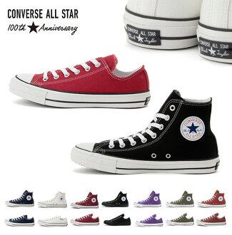 ALL STAR 100 COLORS/全明星100彩色100周年高cut低切運動鞋經典CONVERSE匡威CHUCK TAYLOR帆布女士全明星ALLSTAR HI OX