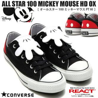 ALL STAR 100 MICKEY MOUSE HD OX全明星100米老鼠HD OX 100周年低切運動鞋經典CONVERSE匡威CHUCK TAYLOR帆布女士Disney迪士尼米奇Mickey明妮minnie