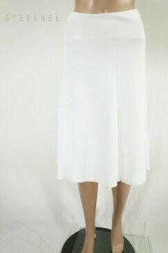 90%OFF 訳あり 新品 ステファル STEFANEL スカート M ESK210 Mサイズ ホワイト レディース フレアスカート 膝下丈 アウトレット