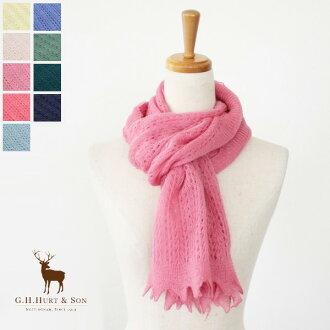 G.H.Hurt & Son ( ジーエイチハートアンドサン ) wool crochet scarf * IL1231184fs3gm