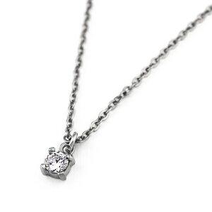 チタンネックレス天然ダイヤモンド約0.1ct[N0030-WDA&C0050-AD2-40]