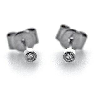 チタンピアス約0.03ctラウンドダイヤモンドスタッドタイプ[E0087]