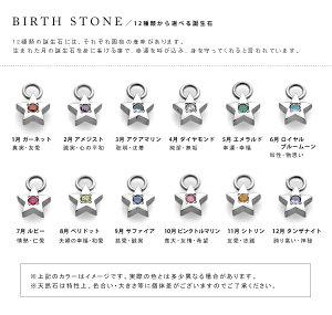 チタンプチチャームネックレススター選べる誕生石[N0033-BDS&C0050-AD2-40]