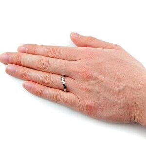 チタンマリッジリングS字ラインLady'sは天然ダイヤモンド1石[R0137-XXX&WDA]