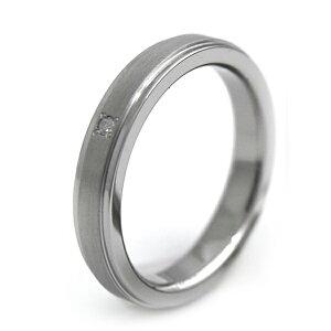 天然ダイヤ入りチタンリングマット帯&鏡面3.5mm幅[R0146WDA]