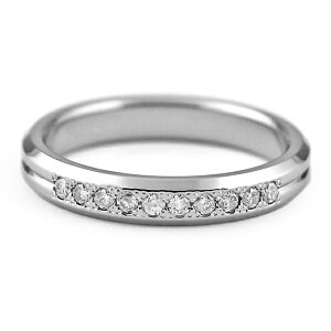 チタンリング天然ダイヤモンド10石合計約0.1ct[R0286-WDA]