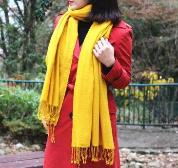 ふかふか大判ストール(カシミヤ100%)手織り カシミア パシュミナ 200cm×70cm【エアーカシミヤ 】ショール