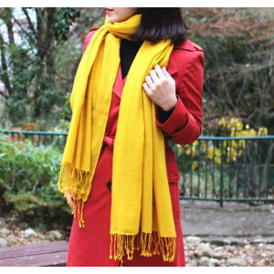 Fluffy large format stall (100% cashmere) handwoven cashmere pashmina 200cm x 70cm [air cashmere] shawl