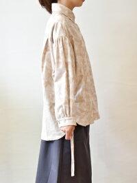 iriseイリゼカモフラ脇シャーリング長袖ブラウス(ir024)