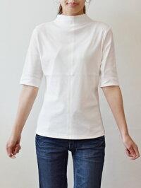 ファイルーズ(FILUSE)コットンボトルネック五分袖カットソー(fe013)